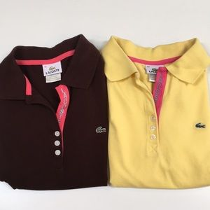 👚2 Cute LACOSTE shirts